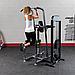 Блочный тренажер турник-брусья-отжимания с противовесом Body-Solid FCD-STK с весовым стеком 95 кг, фото 6