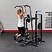 Блочный тренажер турник-брусья-отжимания с противовесом Body-Solid FCD-STK с весовым стеком 95 кг, фото 7