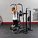 Блочный тренажер турник-брусья-отжимания с противовесом Body-Solid FCD-STK с весовым стеком 95 кг, фото 10