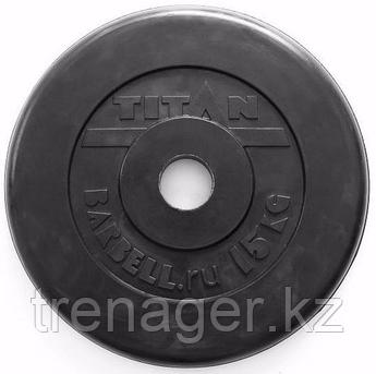 Диск обрезиненный черный 15 кг (51 мм)