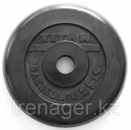 Диск обрезиненный черный 25 кг (51 мм)