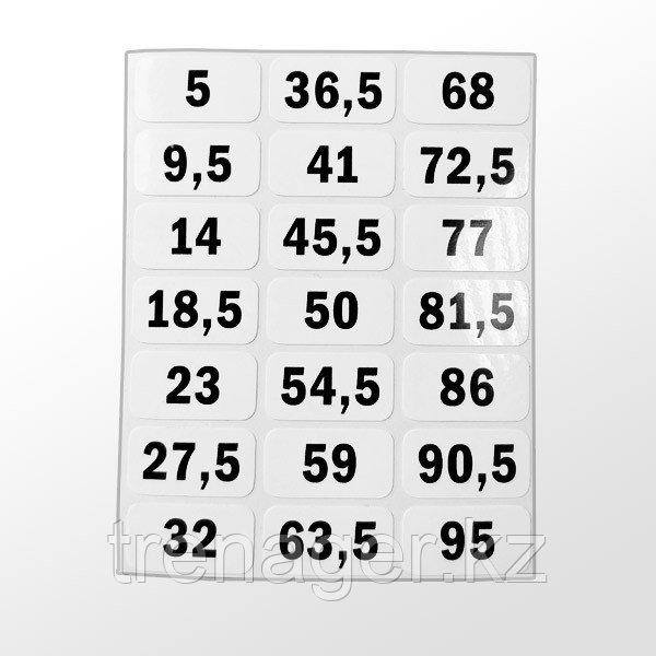 Комплект наклеек на весовой стек № 1 (для SP10/SP50/PP50)