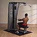 ОПЦИЯ к DGYM Двухпозиц тренажер для спины: вертикальная \ горизонтальная тяга с весовым стеком 95 кг, фото 2