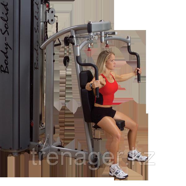 ОПЦИЯ к DGYM Двухпозиционный тренажер для грудных и дельтовидных мышц с весовым стеком 95 кг