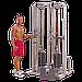 Сдвоенная блочная стойка с двумя весовыми стеками по 105 кг, фото 5
