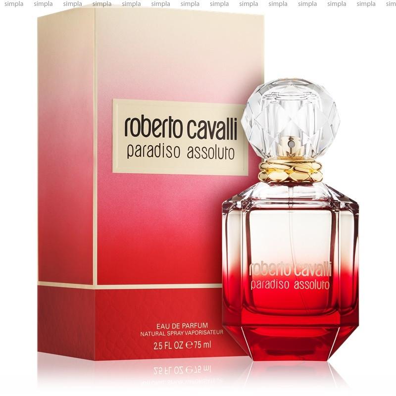 Roberto Cavalli Paradiso Assoluto парфюмированная вода объем 75 мл тестер (ОРИГИНАЛ)