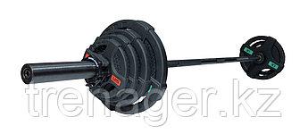 Штанга олимпийская 58 кг (диски с двумя хватами, черный гриф)