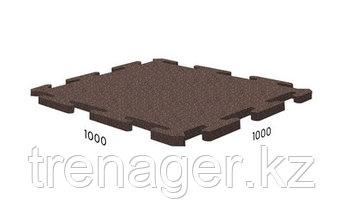 Резиновая плитка - напольное покрытие Standart Puzzle 1000x1000x25 мм, м2
