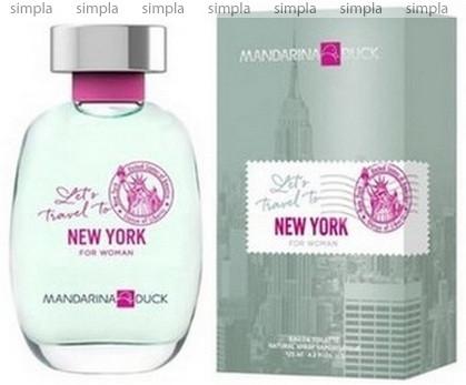 Mandarina Duck Let's Travel To New York For Woman туалетная вода объем 100 мл тестер (ОРИГИНАЛ)