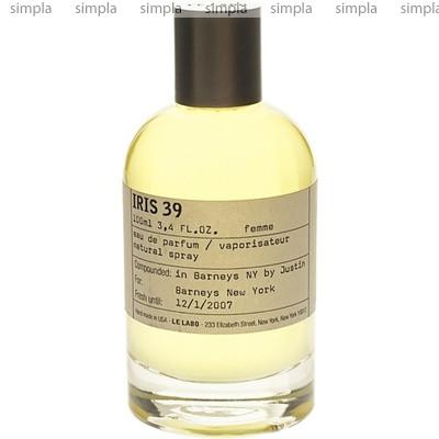 Le Labo Iris 39 парфюмированная вода объем 100 мл тестер (ОРИГИНАЛ)