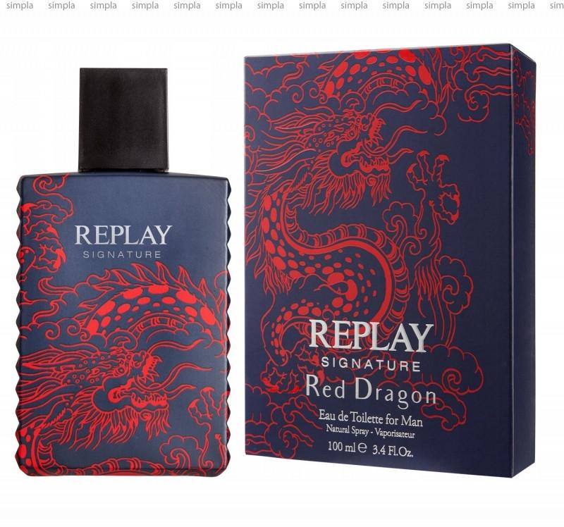 Replay Signature Red Dragon туалетная вода объем 5мл тестер (ОРИГИНАЛ)