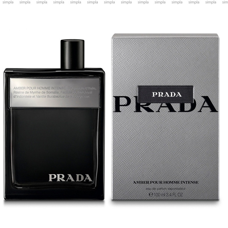 Prada Amber Pour Homme Intense парфюмированная вода объем 100 мл тестер (ОРИГИНАЛ)