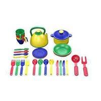 Казик Набор посуды  из пластика 32 предмета, цвет ассорти