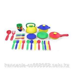 Казик Набор посуды  из пластика 33 предмета, цвет ассорти