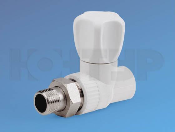PPR Вентиль радиаторный прямой НР D25-3/4 КОНТУР