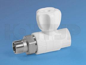 Кран радиаторный прямой НР D25-3/4 PPR Контур