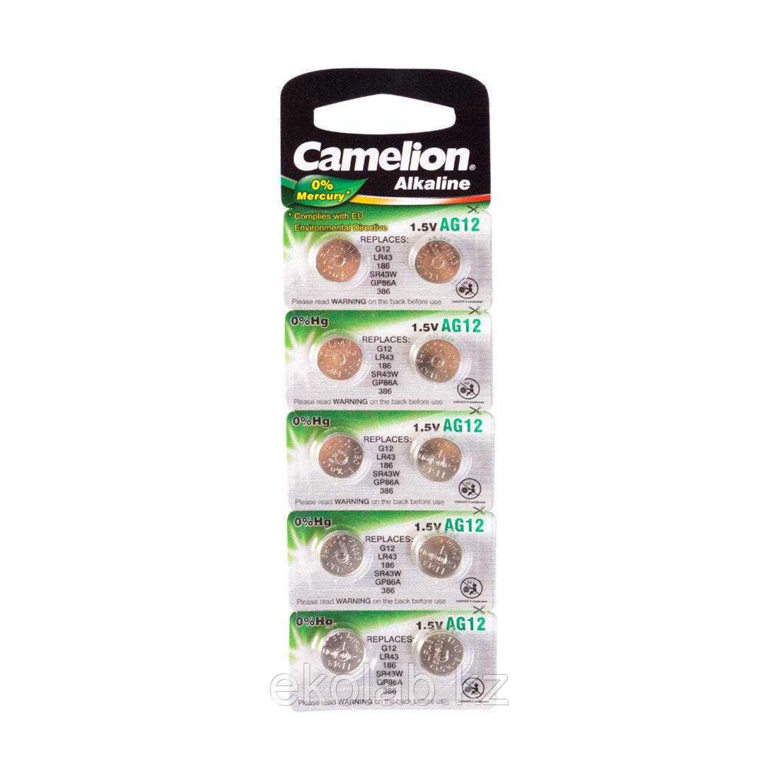 Батарейка CAMELION Alkaline AG12-BP10(0%Hg) 10 шт
