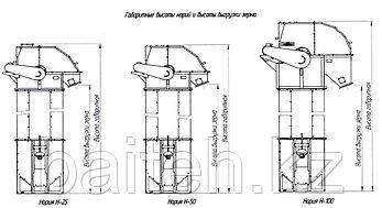 Нория зерновая ковшовая Н-25-М3, фото 2
