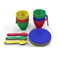 Казик Набор посуды  из пластика 18 предметов, цвет ассорти