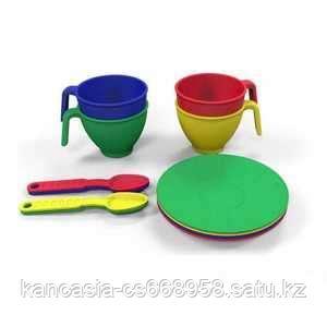 Казик Набор посуды  из пластика 12 предметов, цвет ассорти