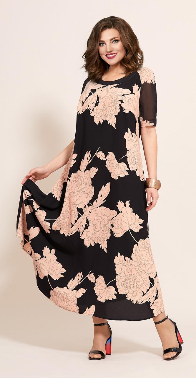 Платье Мублиз-359/4, пудра, 56