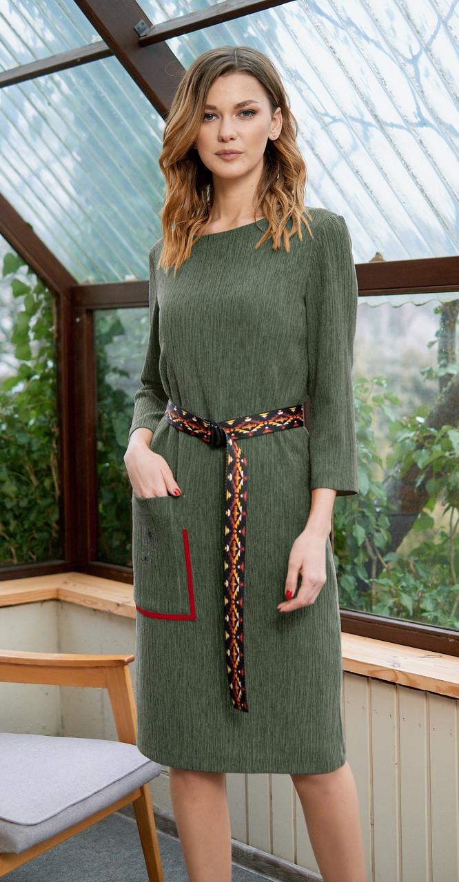 Платье Fantazia Mod-3635/2, хаки, 50