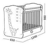 Детская кроватка с поперечным маятником и ящиком СКВ-4 Жираф 440001 белый, фото 4