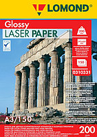 Бумага A3 для цветной лазерной печати Ломонд 200g Глянцевая