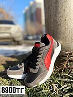 Кроссовки puma серо-красные, фото 1