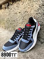 Кроссовки puma черно-синие, фото 1