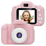 Детский цифровой фотоаппарат с рамками и видеосъемкой 400 mAh, фото 2
