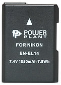 Аккумулятор PowerPlant Nikon EN-EL14 Chip 1050mAh