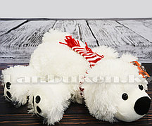 Мягкая игрушка Умка белый медвежонок в шарфе 33 см