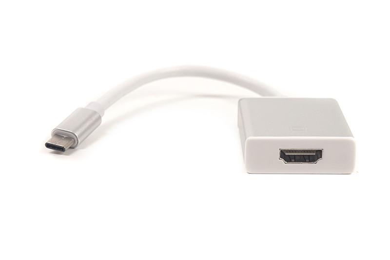 Kабель-переходник PowerPlant USB Type C - HDMI, 0.15m