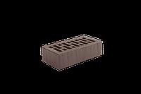 Облицовочный кирпич ангибированный (Recke Brickerei). коричневый фактурный