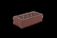 Облицовочный кирпич ангибированный (Recke Brickerei). коричнево-бордовый