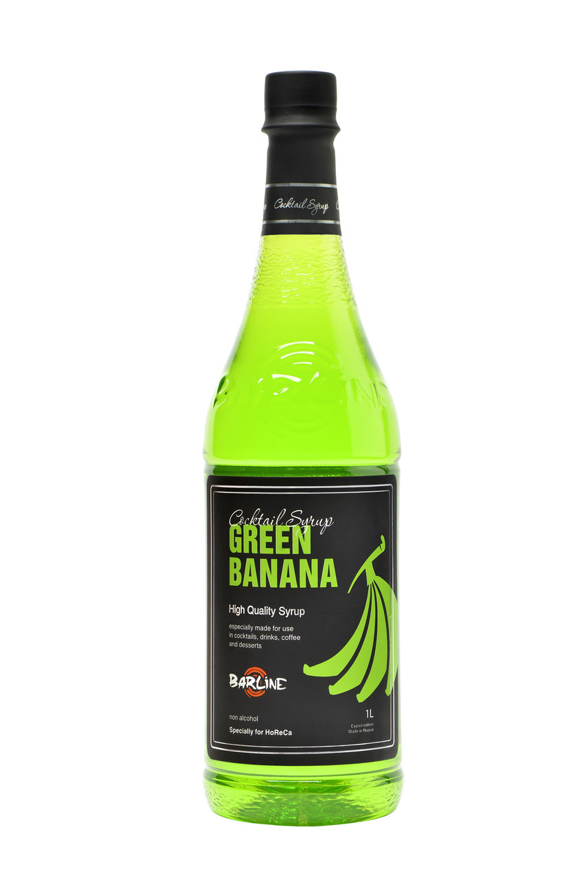 "Сироп Barline ""Green Banana"" Зеленый банан, 1 литр"