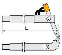 FUBAG Верхнее плечо наклонное O 40 х 300мм для серии SG 36-42