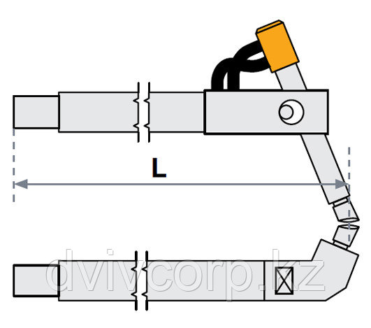 Верхнее плечо наклонное O 40 х 500мм для серии SG 36-42