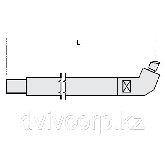 Нижнее плечо наклонное O 40 х 600мм для серии SG 36-42