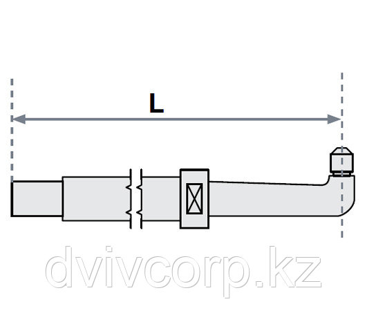 FUBAG Нижнее плечо прямое O 22 х 125мм для серии SG 4-6