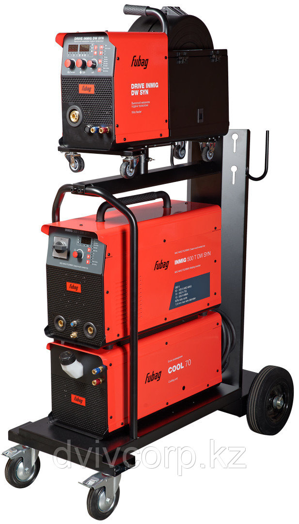 FUBAG Сварочный полуавтомат INMIG 500T DW SYN + DRIVE INMIG DW + Шланг пакет 5м + горелка FB 500 3m + блок
