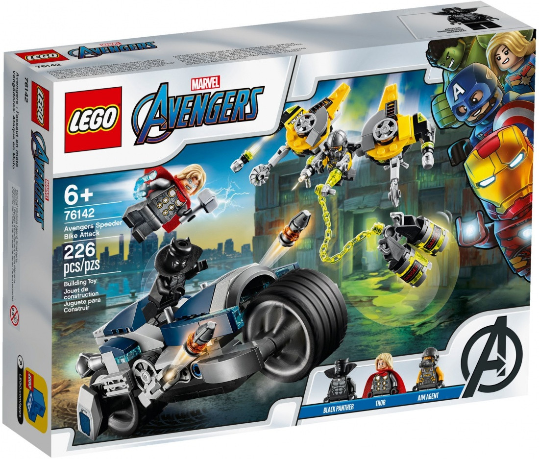 76142 Lego Super Heroes Мстители: Атака на спортбайке, Лего Супергерои Marvel