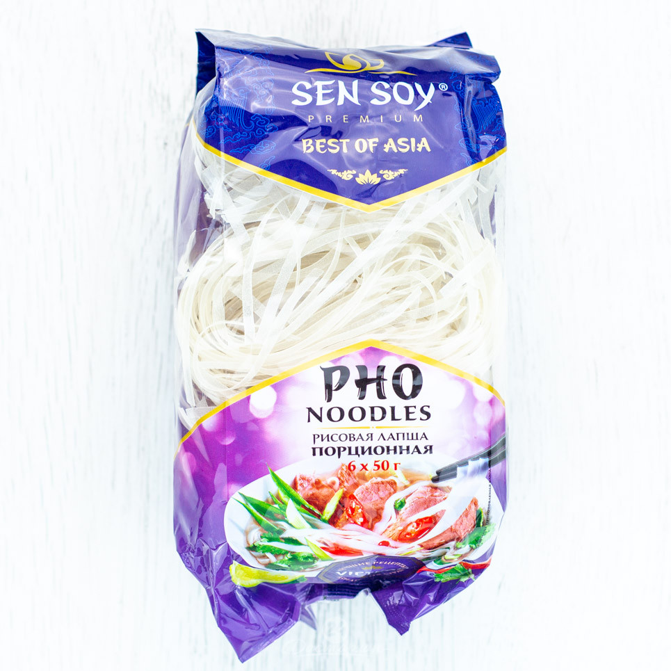 Лапша Sensoy рисовая Pho Noodles пакет 300гр