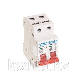 Автоматический выключатель реечный HYUNDAI HIBD63-N 2PMCS0000C 2Р 20А, фото 2