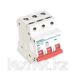Автоматический выключатель реечный HYUNDAI HIBD63-N 3PMCS0000C 3Р 6А, фото 2