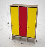 Детские шкафчики для одежды 3-х секционные, фото 1
