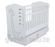 Детская кроватка с поперечным маятником и ящиком СКВ-4(цвет белый) 411001-2