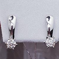 Золотые серьги с бриллиантами 0.82Ct SI2/G, фото 1