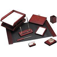 Набор настольный Delucci 9 предметов, красное дерево